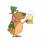 Bear with hat and beer mug , decals stickers