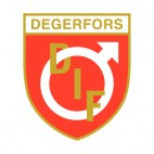 Degerfors IF soccer team logo, decals stickers
