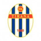 SK Tirana soccer team logo, decals stickers