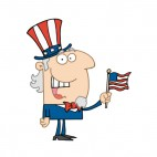 Uncle Sam with american flag , decals stickers