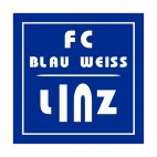 FC Blau WeiB Linz soccer team logo, decals stickers