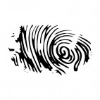 Fingerprint, decals stickers