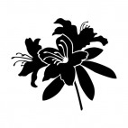 Hibiscus flower silhouette, decals stickers