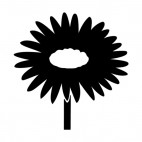 daisy silhouette, decals stickers