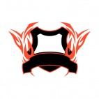 Black and red flames template , decals stickers