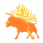 Flamboyant bull, decals stickers