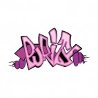 Purple purity word graffiti, decals stickers