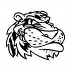 Tiger face mascot, decals stickers