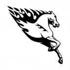 Flamboyant horse running , decals stickers