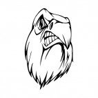 Angry bald eagle face mascot, decals stickers