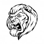 Angry lion face mascot, decals stickers