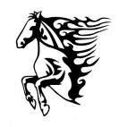 Flamboyant horse jumping, decals stickers