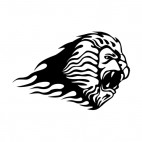 Flamboyant lion head roaring , decals stickers