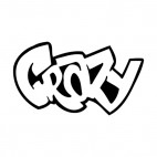 Crazy word graffiti , decals stickers