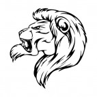 Angry lion face roaring mascot, decals stickers