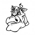 Angry bull face mascot, decals stickers