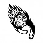 Flamboyant tiger running , decals stickers