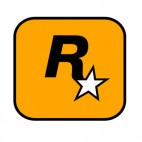 Rockstar rock star gaming studio, decals stickers
