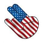United states usa shocker shoker , decals stickers