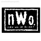 Wrestling NWO New world order, decals stickers