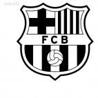 FC Barcelona football team, decals stickers