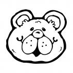 Bear face, decals stickers