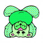 Upside down green bear, decals stickers