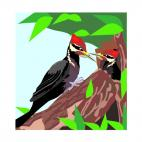 Woodpeckers, decals stickers