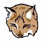 Lynx face, decals stickers