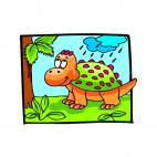 Baby stegosaurus, decals stickers