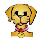 Female dog face, decals stickers