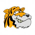 Tiger smiling, decals stickers