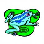 Frog on a lilies, decals stickers
