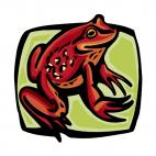 Red frog, decals stickers