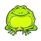 Green toad, decals stickers
