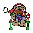 Christmas bear, decals stickers