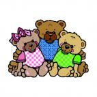 Bear family, decals stickers