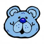 Blue bear face, decals stickers