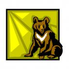 Brown bear, decals stickers