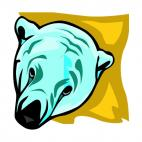 Polar bear face, decals stickers