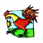 Rooster, decals stickers