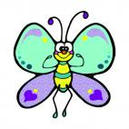 Happy butterfly, decals stickers