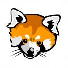Fox face, decals stickers