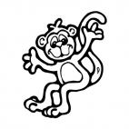 Happy monkey, decals stickers