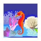 Seahorse, decals stickers
