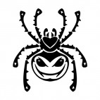 Spider with angry face, decals stickers