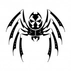 Spider tattoo, decals stickers