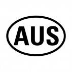 Australia sign, decals stickers