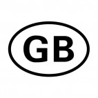 Great Britain sign, decals stickers