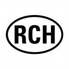 Letters RCH sign, decals stickers